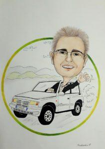 Rysunek samochód