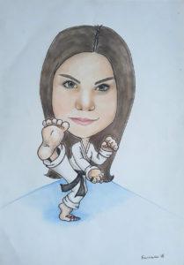 Karate karykatura