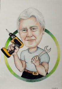 Karykatura narzędzia