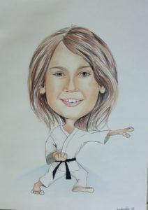 Karate rysunek