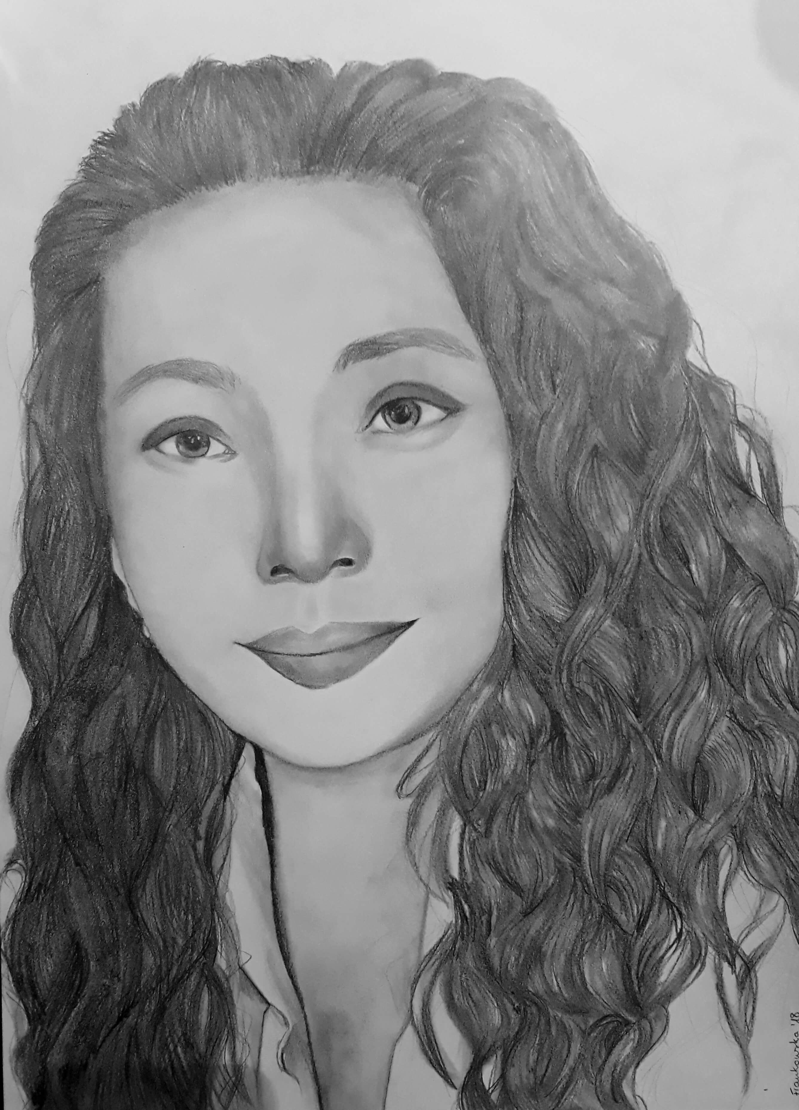 Portret dziewczyna
