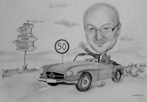 Karykatura samochód
