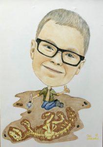Karykatura archeolog