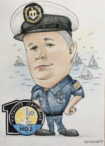 Karykatura żeglarza