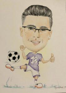 Karykatura piłkarza