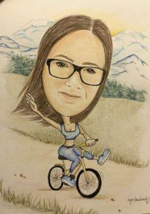 Karykatura rowerzysty