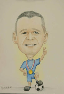 karykatura dla piłkarza