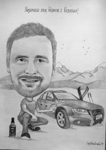 karykatura kierowcy