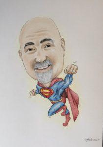 karykatura superman