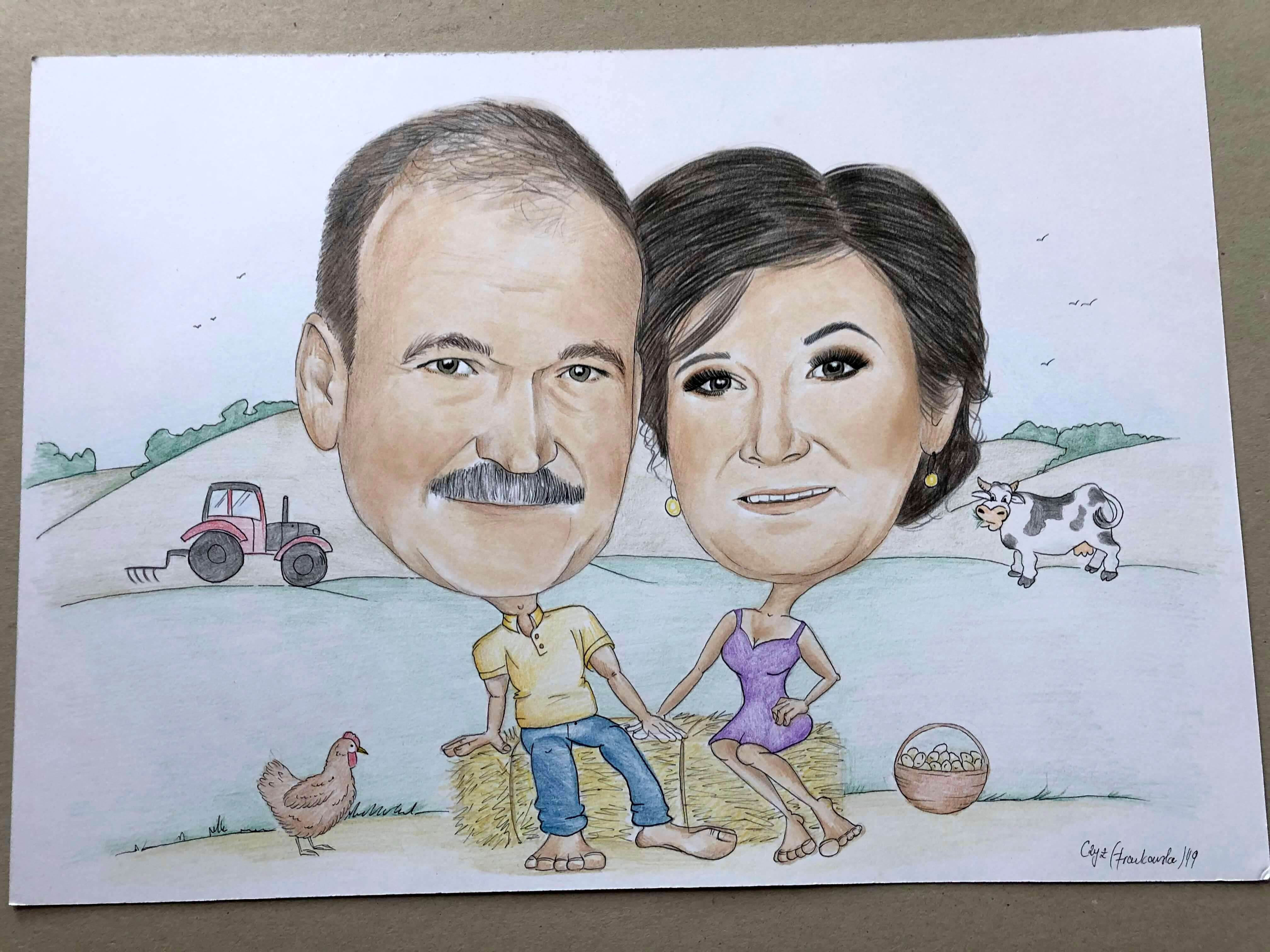 karykatura rolnicy