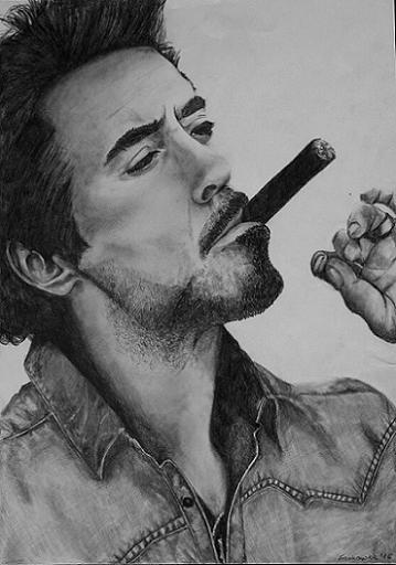 Portret Robert Downey Jr.