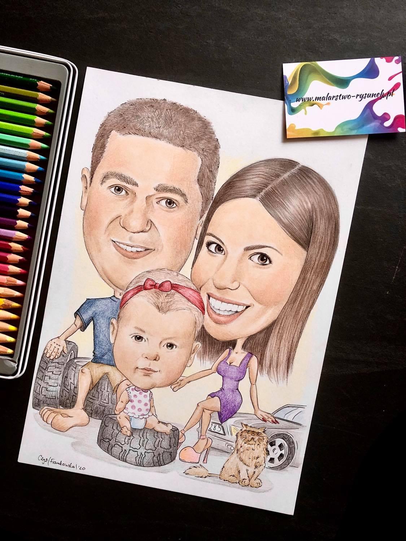 karykatura dla rodzinki