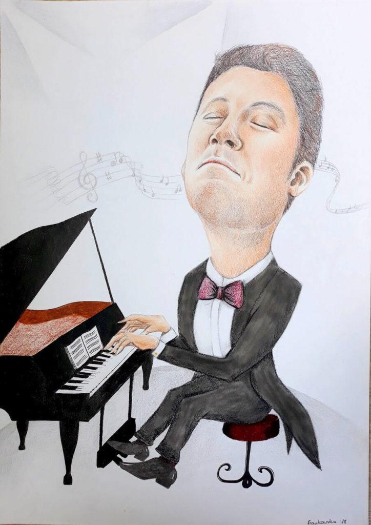 karykatura pianino