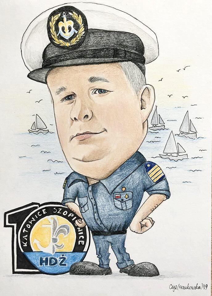 karykatura marynarza